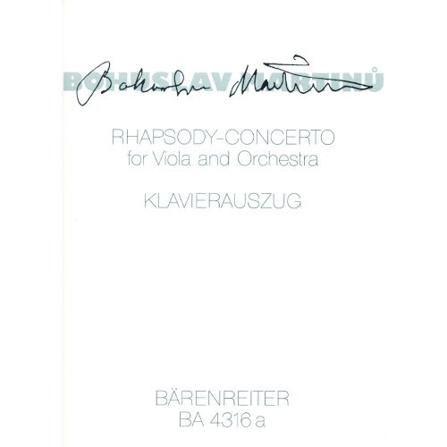 BARENREITER MARTINU BOHUSLAV - RHAPSODY CONCERTO - VIOLA, KLAVIER
