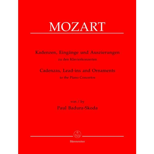 BARENREITER BADURA-SKODA PAUL - CADENZAS, LEAD-INS AND ORNAMENTS TO THE PIANO CONCERTOS BY W.A. MOZART