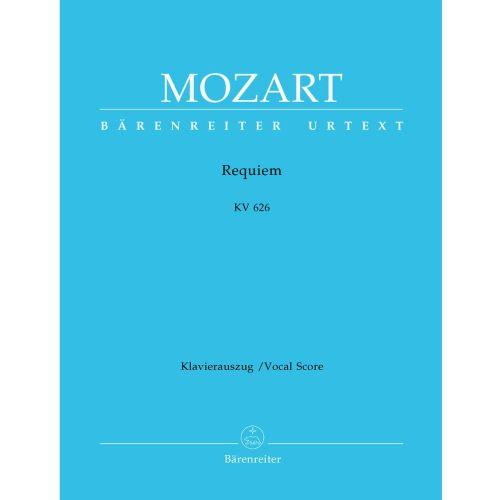 BARENREITER MOZART W.A. - REQUIEM, KV 626 - VOCAL SCORE