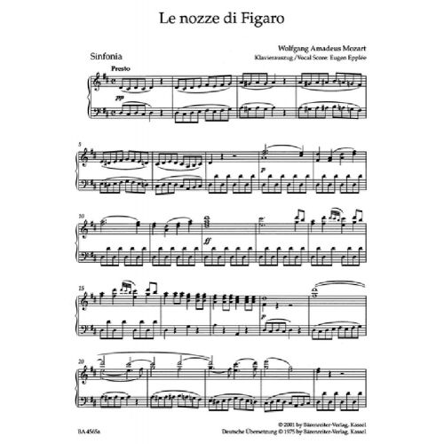 LES NOCES DE FIGARO KV 492