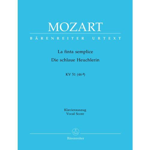 BARENREITER MOZART W.A. - LA FINTA SEMPLICE KV 51(46A) - VOCAL SCORE