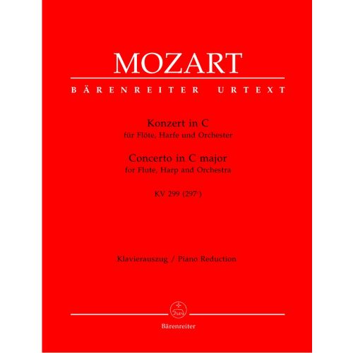 BARENREITER MOZART W.A. - CONCERTO IN C MAJOR FOR FLUTE, HARP, ORCHESTRA KV 299 - PIANO REDUCTION