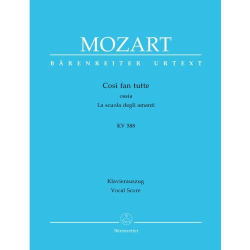 BARENREITER MOZART W.A. - COSI FAN TUTTE KV 588 - VOCAL SCORE