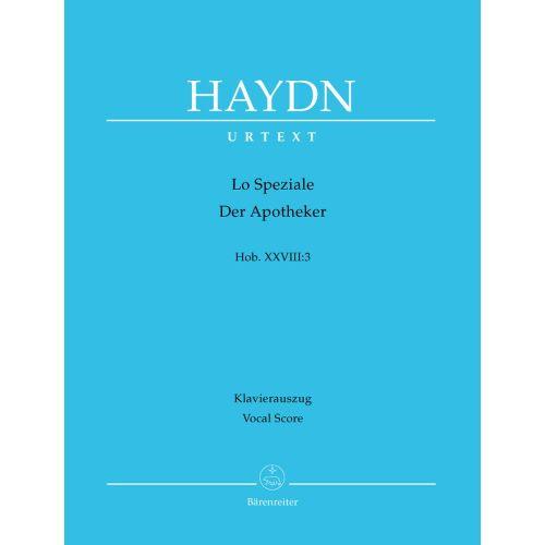 BARENREITER HAYDN J. - LO SPEZIALE, DER APOTHEKER HOB.XXVIII:3 - REDUCTION PIANO