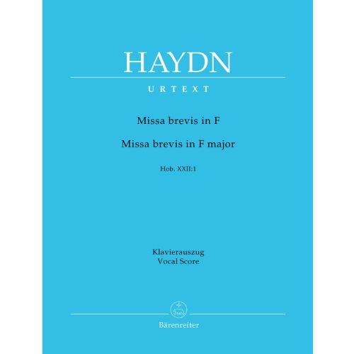 BARENREITER HAYDN J. - MISSA BREVIS IN F MAJOR HOB. XXII:1 - VOCAL SCORE