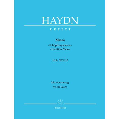 BARENREITER HAYDN J. - MISSA B-FLAT MAJOR, CREATION MASS HOB.XXII:13 - VOCAL SCORE