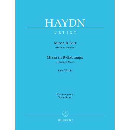 BARENREITER HAYDN J. - MISSA IN B-DUR HARMONIEMESSE HOB.XXII:14 - VOCAL SCORE