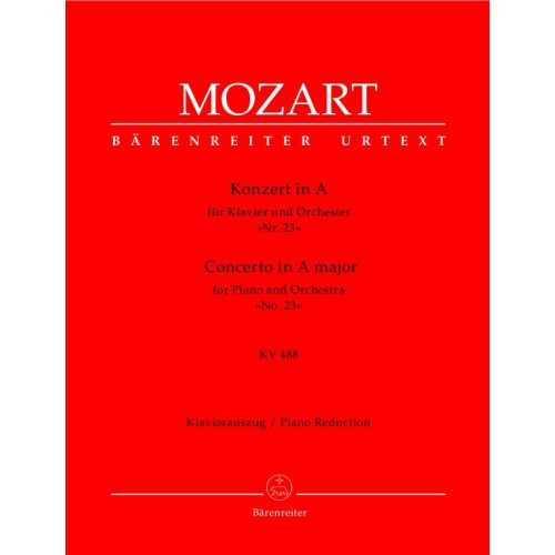 BARENREITER MOZART W.A. - CONCERTO N°23 IN A MAJOR KV 488 FOR PIANO AND ORCHESTRA - 2 PIANOS
