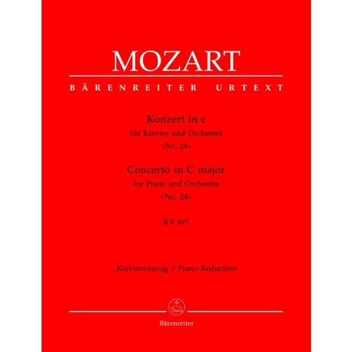 BARENREITER MOZART W. A. - KONZERT IN C Nr 24 KV 494 - REDUCTION POUR PIANO