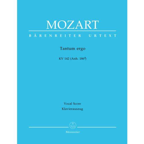 BARENREITER MOZART W.A. - TANTUM ERGO KV 142 (ANH. 186D) - VOCAL SCORE