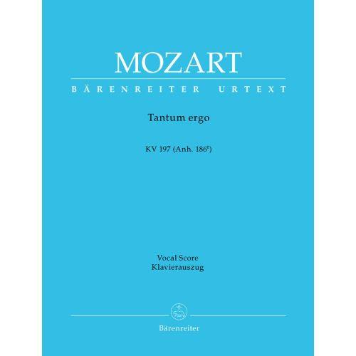BARENREITER MOZART W.A. - TANTUM ERGO 197 (ANH. 186E) - VOCAL SCORE