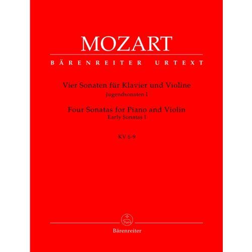 BARENREITER MOZART W.A. - VIER SONATEN, JUGENDSONATEN I KV 6-9 - VIOLINE, KLAVIER