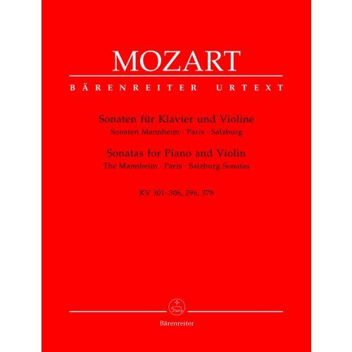 BARENREITER MOZART W.A. - SONATEN MANNHEIM, PARIS, SALZBURG KV 301-306, 296, 378 - VIOLINE, KLAVIER
