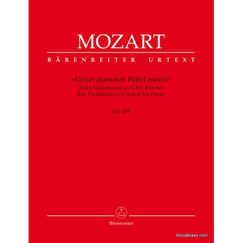 BARENREITER MOZART W.A. - 10 VARIATIONS ON