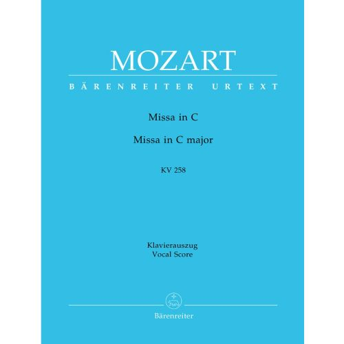 BARENREITER MOZART W.A. - MESSE EN DO MAJEUR KV 258 - KLAVIERAUSZUG