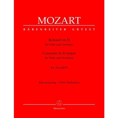 BARENREITER MOZART W.A. - KONZERT IN D KV 314 (285D) - FLÖTE, KLAVIER