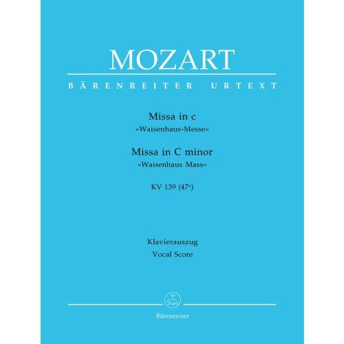 BARENREITER MOZART W.A. - MISSA IN C MINOR KV 139 (47A)