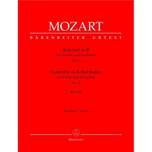 BARENREITER MOZART W.A. - CONCERTO IN B-FLAT MAJOR FOR VIOLIN AND ORCHESTRA N°1 KV 207 - SCORE