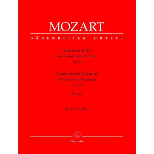 BARENREITER MOZART W.A. - CONCERTO IN D MAJEUR FOR VIOLIN AND ORCHESTRA N°2 KV 211 - SCORE