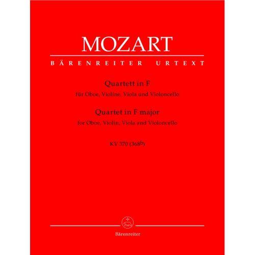 BARENREITER MOZART W.A. - QUATUOR EN FA MAJEUR KV 370 (368B) - HAUTBOIS, VIOLON, ALTO, VIOLONCELLE