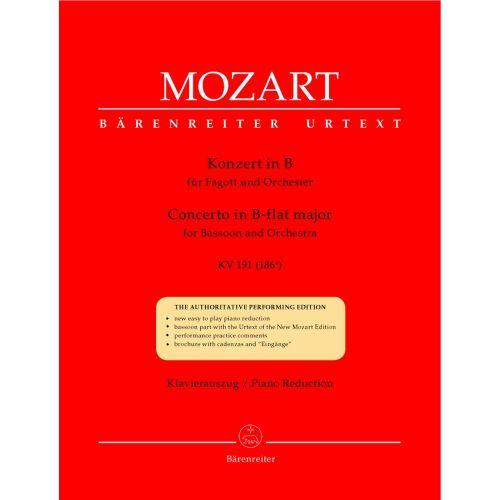 BARENREITER MOZART W.A. - CONCERTO IN B-FLAT MAJOR KV 191 - BASSOON, PIANO