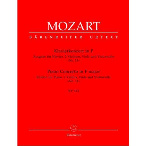 BARENREITER MOZART W.A. - PIANO CONCERTO IN F MAJOR N°11 KV 413 - PIANO, 2 VIOLIN, VIOLA, VIOLONCELLO