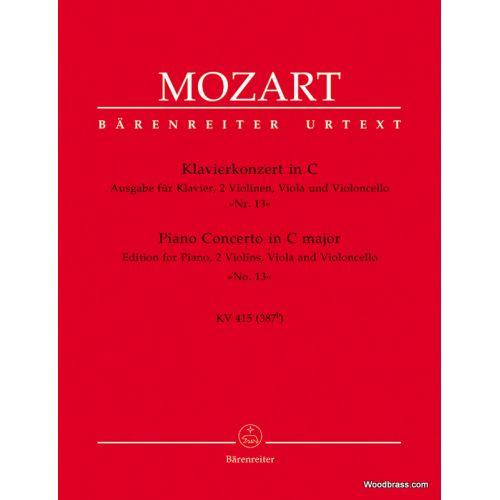 BARENREITER MOZART W.A. - KONZERT N°13 C-DUR KV 415 - PIANO