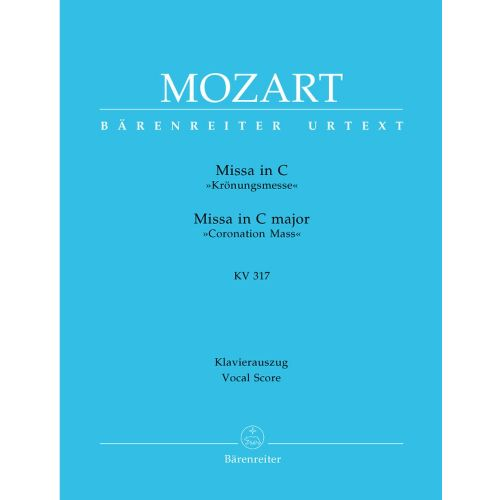 BARENREITER MOZART W.A. - MISSA IN C MAJOR