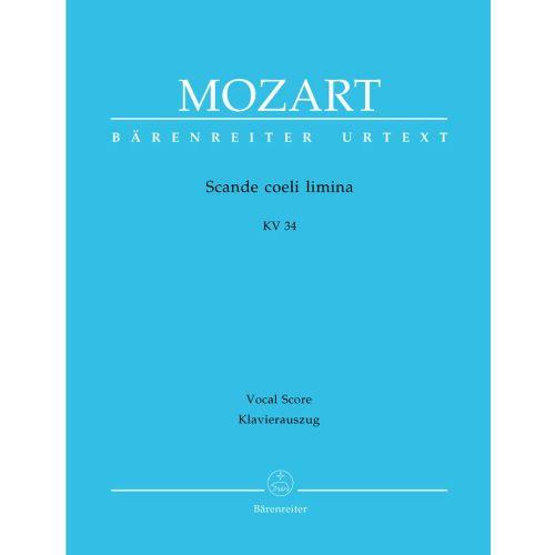 BARENREITER MOZART W.A. - SCANDE COELI LIMINA KV 34 - VOCAL SCORE
