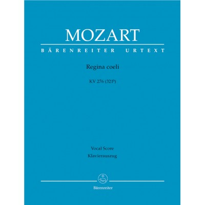 BARENREITER MOZART W.A. - REGINA COELI KV 276 - CHANT-PIANO