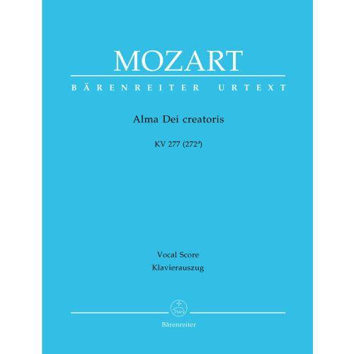 BARENREITER MOZART W.A. - ALMA DEI CREATORIS KV 277 (272A) - VOCAL SCORE