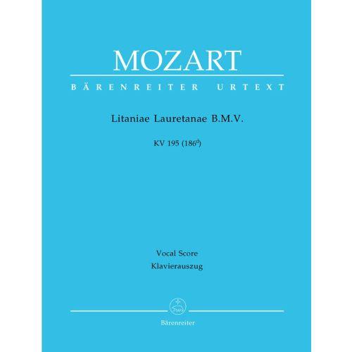 BARENREITER MOZART W.A. - LITANIAE LAURETANAE B.M.V. KV 195 (186D) - VOCAL SCORE