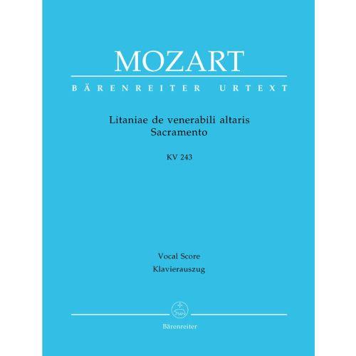 BARENREITER MOZART W.A. - LITANIAE DE VENERABILI ALTARIS SACRAMENTO KV 243 - VOCAL SCORE