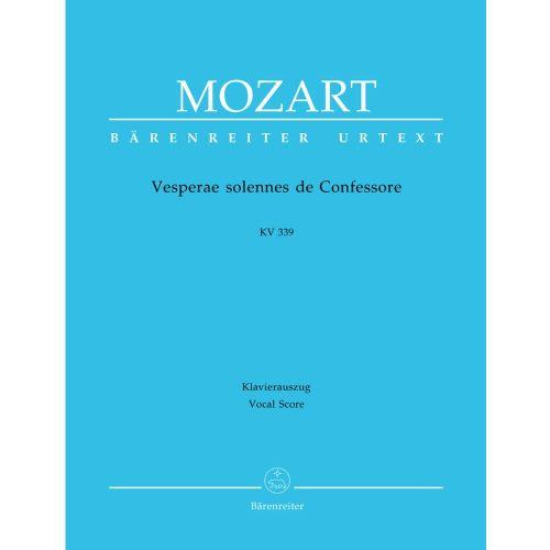 BARENREITER MOZART W.A. - VESPERAE SOLENNES DE CONFESSORE KV 339 - VOCAL SCORE