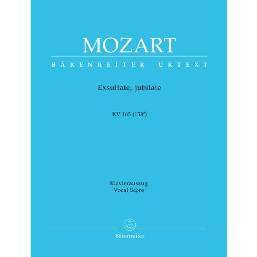 BARENREITER MOZART W.A. - EXSULTATE, JUBILATE KV 165 (158A) - VOCAL SCORE