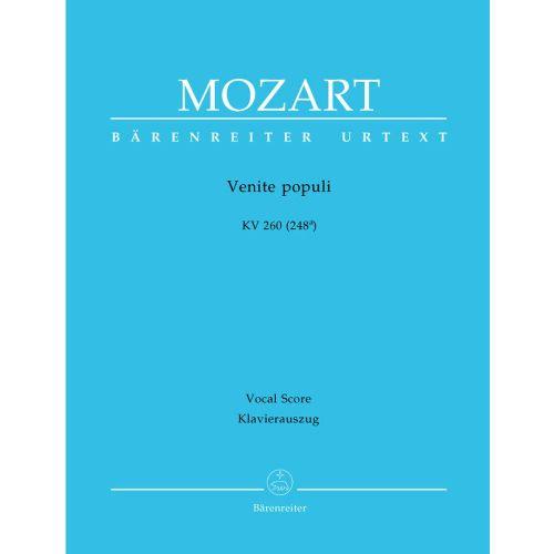 BARENREITER MOZART W.A. - VENITE POPULI KV 260 (248A) - VOCAL SCORE