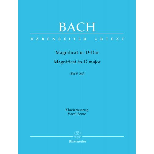 BARENREITER BACH J.S. - MAGNIFICAT IN D MAJOR BWV 243 - VOCAL SCORE