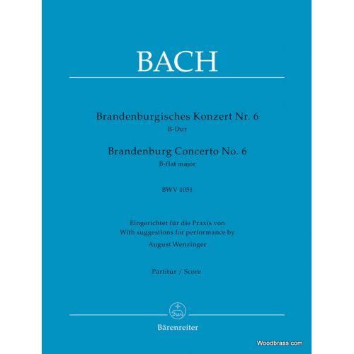 BARENREITER BACH J.S. - BRANDENBURGISCHES KONZERT N° 6 B-DUR BWV 1051