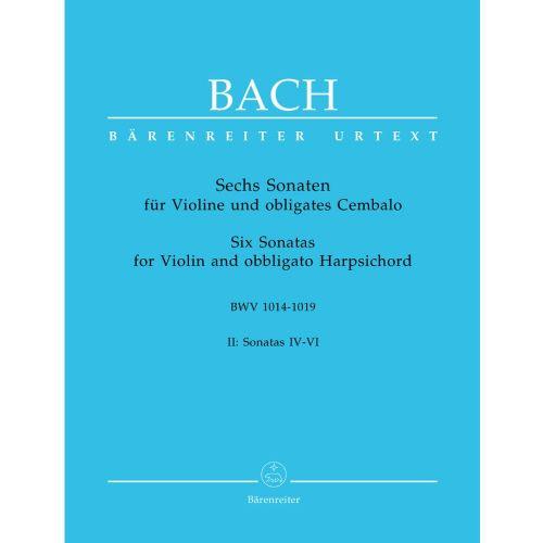 BARENREITER BACH J.S. - 6 SONATAS VOL.2 BWV 1017, 1018, 1019 - VIOLIN, HARPSICHORD