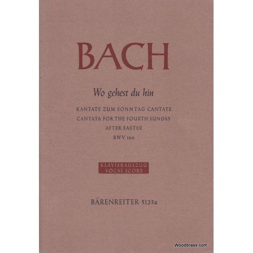 BARENREITER BACH J.S. - WO GEHEST DU HIN BWV166 - VOCAL SCORE