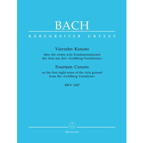 BARENREITER BACH J.S. - 14 CANONS BWV 1087 - CLAVECIN
