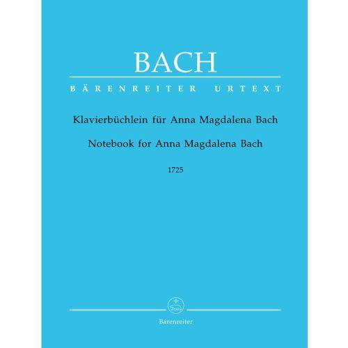 BARENREITER BACH J.S - PETIT LIVRE D'ANNA MAGDALENA BACH - PIANO