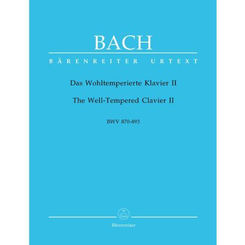BARENREITER BACH J.S. - DAS WOHLTEMPERIERTE KLAVIER II, BWV 870-893
