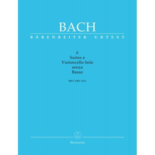 BARENREITER BACH J.S. - 6 SUITES A VIOLONCELLO SOLO SENZA BASSO BWV 1007-1012