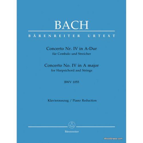 BARENREITER BACH J.S. - CEMBALOKONZERT IV A-DUR BWV 1055