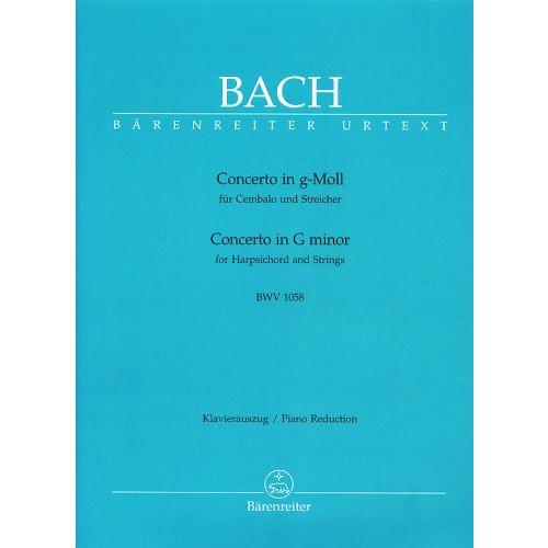 BARENREITER BACH J.S. - CONCERTO N°7 IN G MINOR FOR HARPSICHORD AND STRINGS BWV 1058 - HARPSICHORD