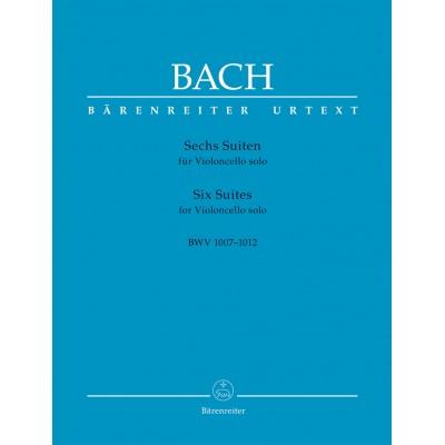 BARENREITER J.S BACH - 6 SUITES BWV 1007-1012 - VIOLONCELLE SEUL