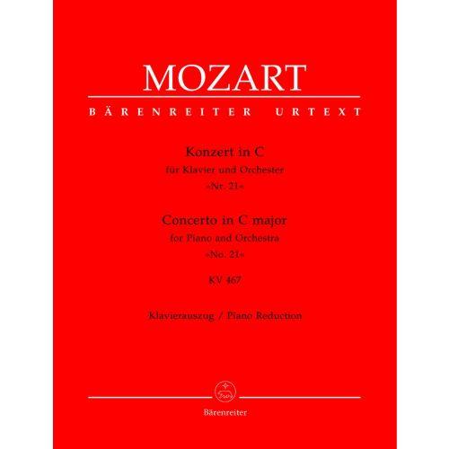 BARENREITER MOZART W.A. - CONCERTO N°21 EN DO MAJEUR POUR PIANO ET ORCHESTRE KV467 - REDUCTION PIANO