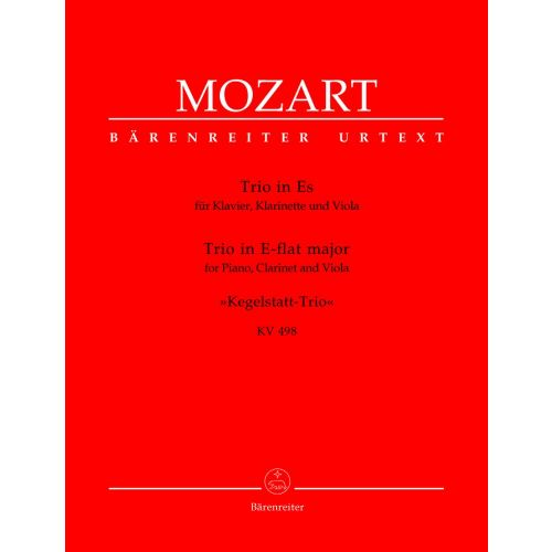BARENREITER MOZART W.A. - TRIO IN E-FLAT MAJEUR KEGELSTATT-TRIO KV 498 - PIANO, CLARINET, VIOLA
