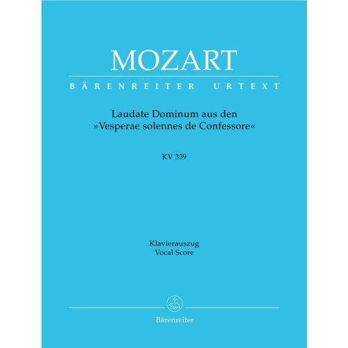 BARENREITER MOZART W.A. - LAUDATE DOMINUM KV 339 AUS DEN VESPERAE SOLENNES DE CONFESSOR - KLAVIERAUSZUG